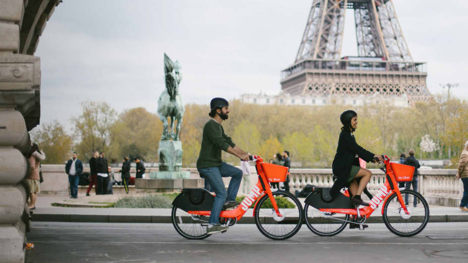 Paris Electric Bikes and Scooters Rental - JUMP by Uber